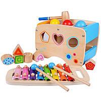 Ксилофон молоточек и шарики. Развивающая деревянная игрушка. Отличный подарок для ребенка