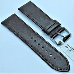 24 мм Шкіряний Ремінець для годинника CONDOR 283.24.02 Коричневий Ремінець на годинник з Натуральної шкіри