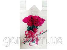 Пакет майка поліетиленова (тип FA)(30+2х8)х55 Троянда Кривий Ріг (100 шт)
