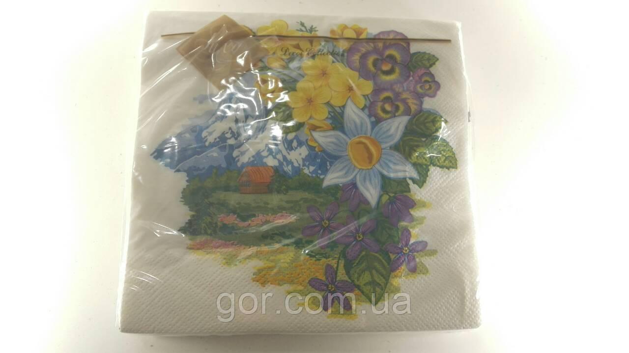 Дизайнерская салфетка (ЗЗхЗЗ, 20шт) Luxy  Удивительный сад (661) (1 пач) (Gordi)