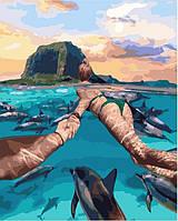 """Акриловая картина по номерам на холсте """"Следуй за мной. Маврикий"""" 40х50 см."""