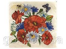 Дизайнерська серветка (ЗЗхЗЗ, 20шт) La Fleur Польова радість (022) (1 пач.)