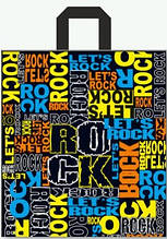 """Пакет з петлевий ручкою ср """"Рок159""""(40х40+3) 85мк (25 шт)"""
