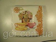 Серветка декор (ЗЗхЗЗ, 20шт) La Fleur Чайна композиція 1001 (1 пач.)