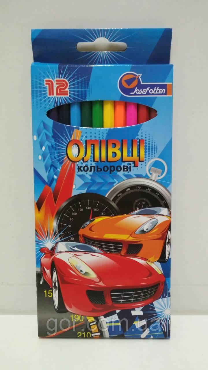 Карандаши цветные набор 12шт  (1 пач)