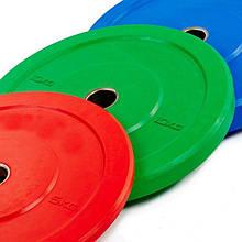 Бамперные диски цветные 5-10-15-20кг