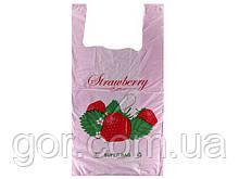"""Пакет майка поліетиленова (тип FA) """"SUPER BAG"""" 29*55 Полуниця (100 шт)"""