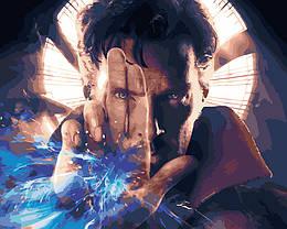 """Картина по номерам """"Доктор Стрэндж"""" Сложность: 3 (Марвел, супергерой, Бенедикт Камбербетч)"""