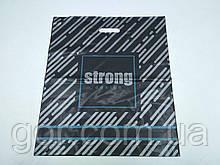 """Пакет з прорізною ручкою (45*53+)""""Strong"""" Леомі (50 шт)"""