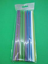 """Трубочка для  коктейлей цветная БОЛЬШАЯ (25шт) ТМ """"Супер торба"""" (1 пач) набор одноразовой посуды для пикника"""