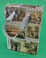 Пакет подарунковий паперовий МІНІ 8*12*3.5 арт40 (12 шт)