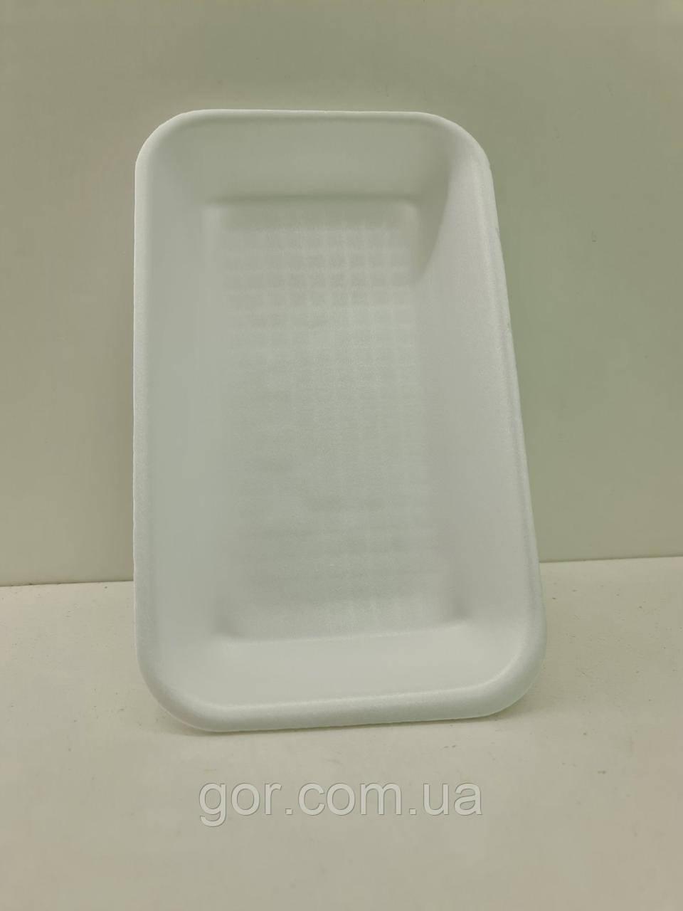 Подложка (лотки) из вспененного полистирола (222*133*33) T-3-33 (200 шт) одноразовый, для упаковки продуктов