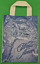 """Пакет ламінований з петлевою ручкою маленький """"Ватер Фловер"""" 2706 (23х29) 50мк ДПА (50 шт)"""