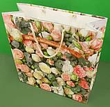 Пакет бумажный подарочный квадратный ы 23*24*10(артKV-076) (12 шт), фото 2