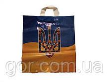 """Пакет з петлевий ручкою ср п """"Любіть Україну""""5920(38х42) 90мк ДПА (50 шт)"""