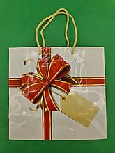 Пакет бумажный подарочный квадратный ы 23*24*10(артKV-091) (12 шт)