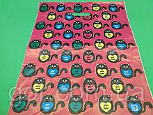 """Пакет з прорізною ручкою (40*50)"""" Дитячий світ """"Коти"""" (50 шт)"""