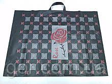 """Пакет з петлевий ручкою (б) """"Троянда """"(68*50) Леоні (25 шт)"""