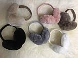 Меховые наушники, бежевые, фото 5