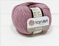Пряжа Jeans 50гр - 160м (65 Розовый) YarnArt 55 % хлопок, 45 % полиакрил, Турция