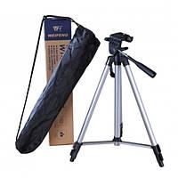 Телескопічний Штатив професійний для камери і телефону трипод Weifeng 330А