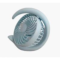 Вентилятор аккумуляторный поворотный настольный Mini Fan ML-2020 Голубой