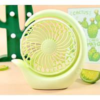 Вентилятор аккумуляторный поворотный настольный Mini Fan ML-2020 Зеленый