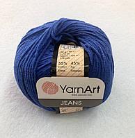 Пряжа Jeans 50гр - 160м (47 Синий) YarnArt 55 % хлопок, 45 % полиакрил, Турция