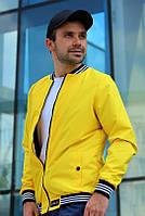 Куртка мужская бомбер. Ветровка мужская желтого цвета