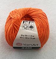 Пряжа Jeans 50гр - 160м (77 Оранжевый) YarnArt 55 % хлопок, 45 % полиакрил, Турция