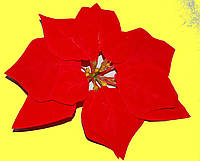 Пуасентия (Рождественская звезда)  бархат большая 18 см
