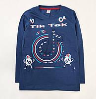 Детская кофта реглан хлопковый для мальчика Tiktok тикток синяя 9-10 лет