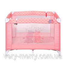 Детский манеж Lorelli Play (розовый цвет)