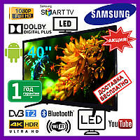 Телевизор 40 Samsung Smart TV. Android 7, Wi-Fi, Full HD, Телевизор Самсунг. LЕD самсунг 40 дюймов