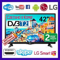 Телевизор LG 42. Smart Tv. 4K. Android. Встроенные T2 Смарт тв