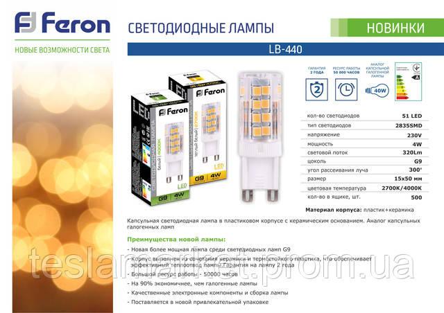 Капсульная светодиодная лампа LB-440