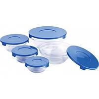 Набор стеклянных емкостей с крышками Cooking Bowl 5 шт. Судочки для хранения пищевых продуктов