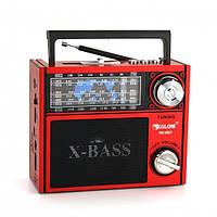 Акустическая система Golon всеволновой радиоприемник колонка с радио фонарь USB SD FM Красный (RX-201)