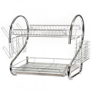 Сушилка подставка для посуды UKC BN-004 на кухню на 2 уровня