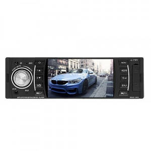 Автомагнітола автомобільна головний пристрій в машину MP3/MP4/DVR UKC-4204 з пультом на кермо 1DIN
