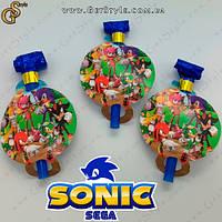 "Свисток святковий Соник - ""Sonic Whistle"" - 3 шт, фото 1"