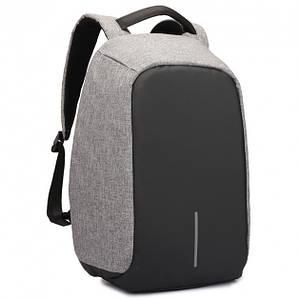 Рюкзак городской Antivor 2.0 антивор сумка с защитой от карманников с USB Grey