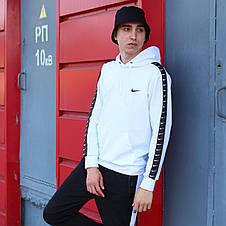 Мужская кофта - Худи Nike белая (top replic), фото 2