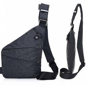 Чоловіча та жіноча водонепроникна сумка Cross Body месенджер протикрадій на плече Black