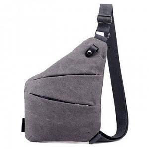 Чоловіча та жіноча водонепроникна сумка Cross Body месенджер протикрадій на плече Grey