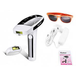 Портативный фотоэпилятор для лица и тела Kemei KM-6812 со съёмными картриджами
