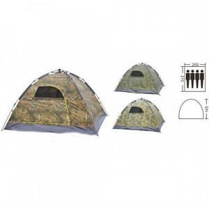 Туристична палатка avtomat з автоматичним каркасом із склопластику 4-х місцева, колір камуфляж