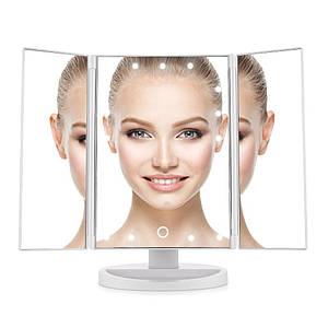 Зеркало светодиодное  с LED подсветкой для макияжа Protech Beauty LED Mirror раскладное с увеличением (от