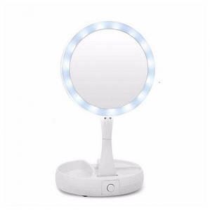 Зеркало светодиодное для макияжа косметическое с LED подсветкой MyFoldAway White