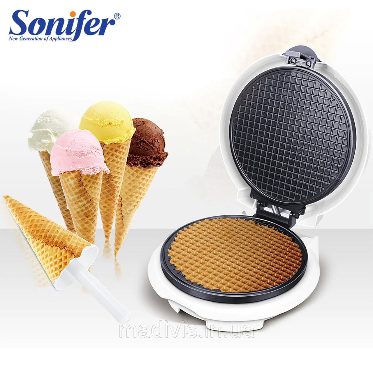 Вафельница SONIFER cone maker SF-6034